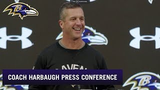 John Harbaugh Previews Rams, Talks Hype Around Ravens | Baltimore Ravens