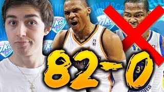 82-0 CHALLENGE - 2017 OKLAHOMA CITY THUNDER WITHOUT KEVIN DURANT! NBA 2K16 MY LEAGUE