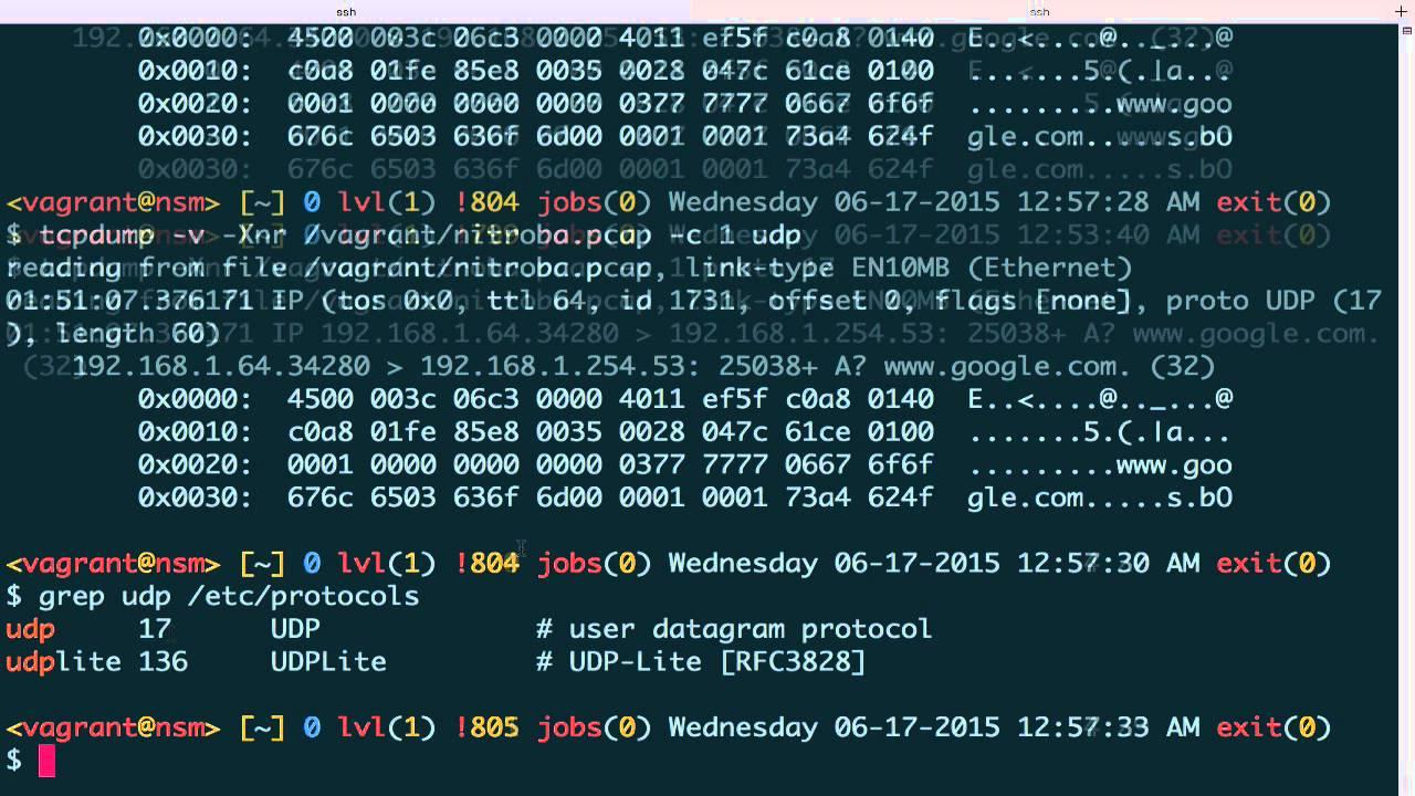 Tcpdump - Protocol Review 3 (UDP)