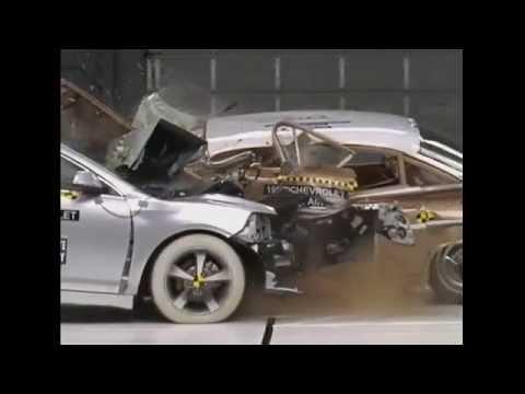 Iihs 1959 Chevrolet Bel Air Versus 2009 Malibu Crash Test You