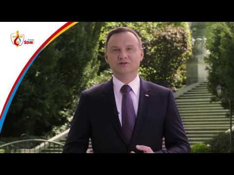 Polish President Andrzej Duda welcomes all to WYD