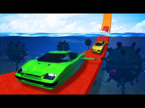 DANGEROUS UNDERWATER MINE DODGE CHALLENGE! (GTA 5 Funny Moments)