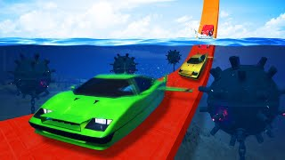 DANGEROUS UNDERWATER MINE DODGE CHALLENGE! (GTA 5 Funny Moments) thumbnail