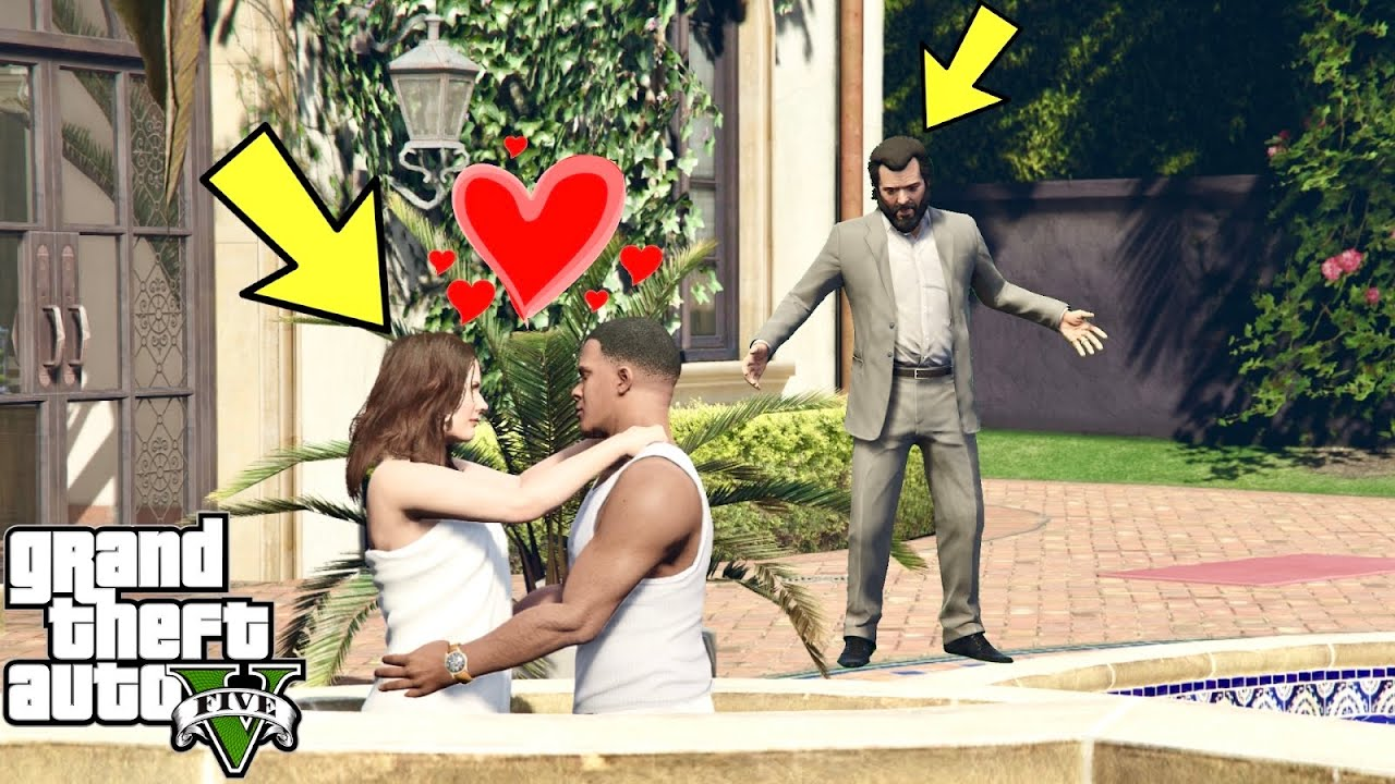 What Do Franklin And Amanda Do In The Pool In GTA 5? (Michael Caught Them)