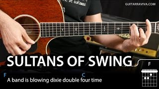 How To Play Sultans of Swing on guitar tutorial (easy lesson chords)