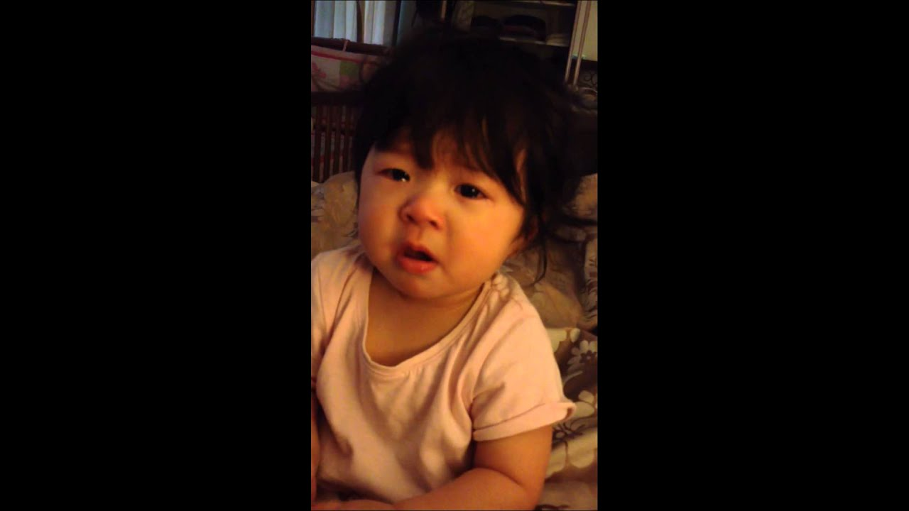 11 month old baby girl Dakota Lin fake crying - YouTube