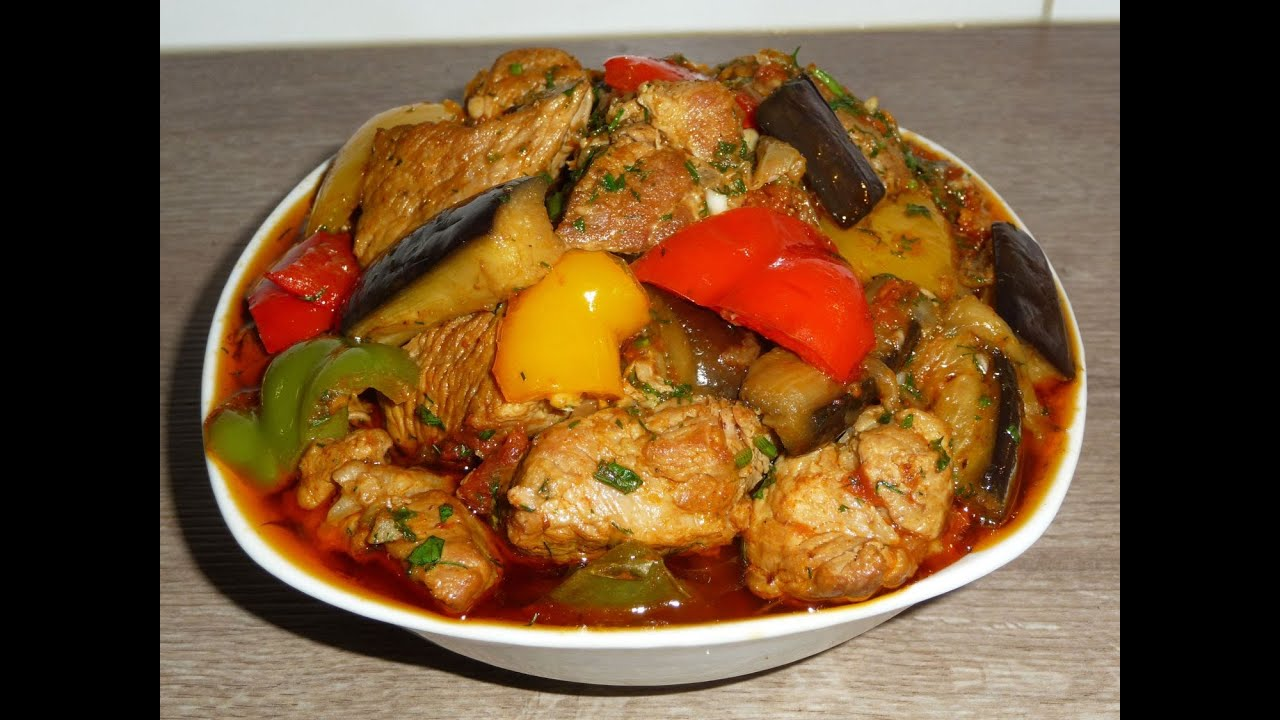 тушеное мясо с овощами в духовке рецепт с фото