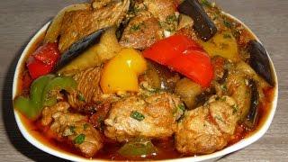 Тушёное мясо с овощами ооочень вкусно
