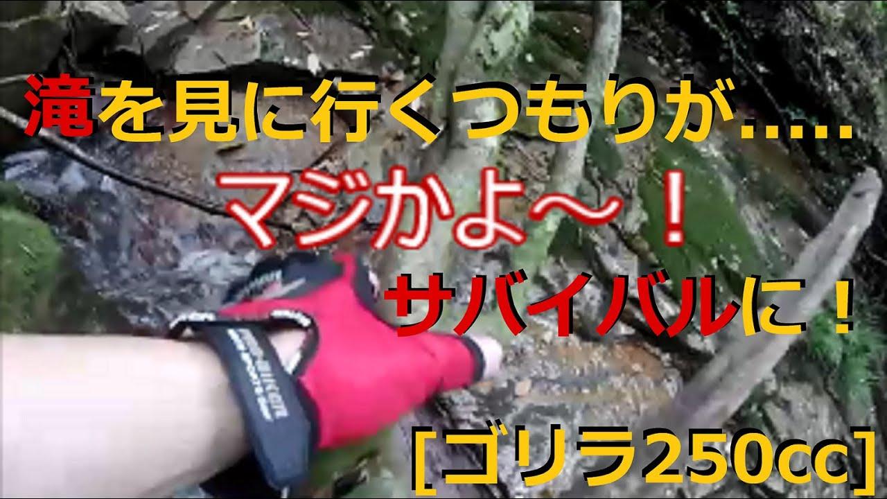 [ゴリラ250cc] 滝を見に行くつもりが大変な事に........