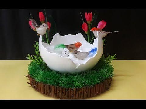 How to Make Birds Nest Craft Using Newspaper | DIY Birds Nest Home Décor Craft | Paper Nest ...