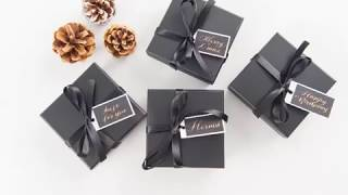 DIY禮物盒綁帶教學