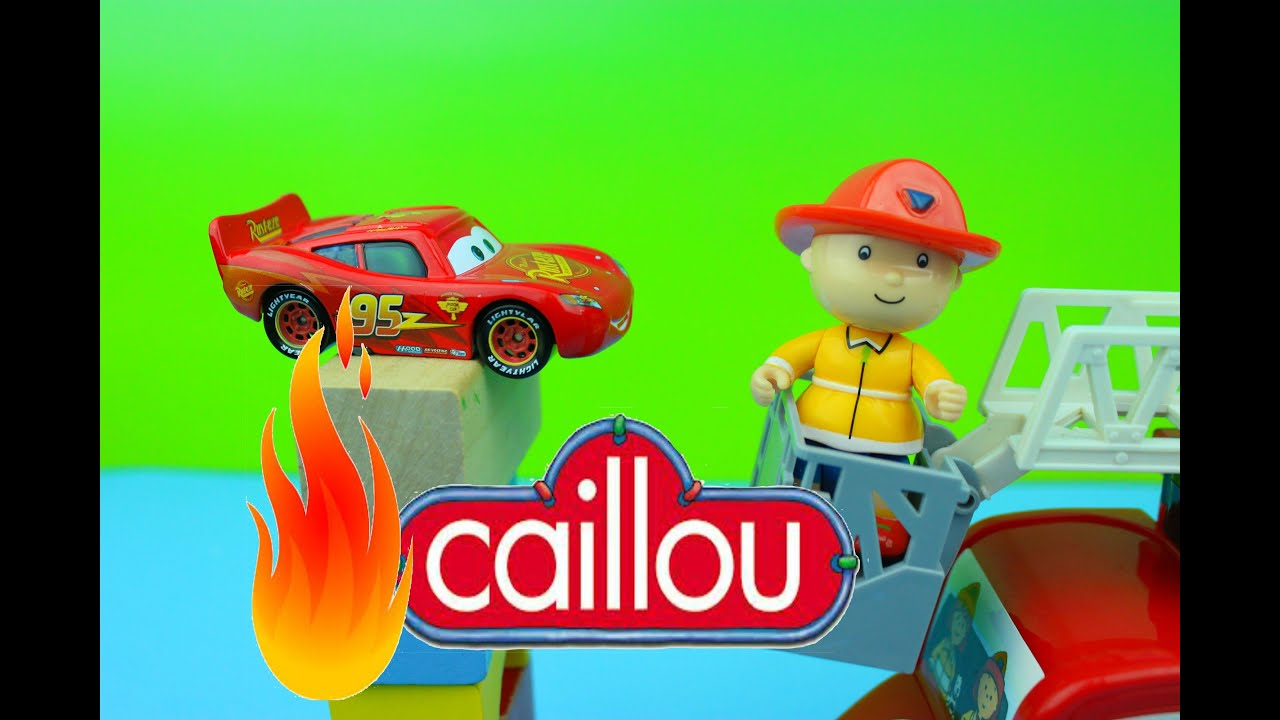Caillou S Fire Truck Caillou Saves Disney Pixar Cars