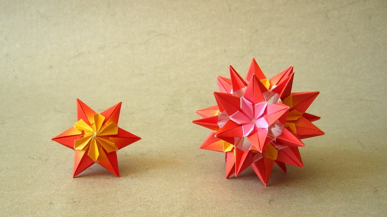 YouTube Premium Origami Instructions Sparaxis Star and