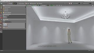DIALux EVO. Расчет освещенности от люстры и импорт 3d модели
