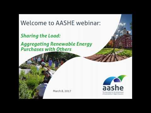 Sharing the Load-Aggregating Renewable Energy Purchases with Others