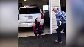 Husband Surprises Wife