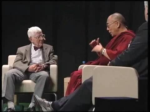 Aaron Beck, one of the inventors of CBT, with the Dalai Lama, who has spoken about the close similarity between CBT and Buddhism's theories of the emotions