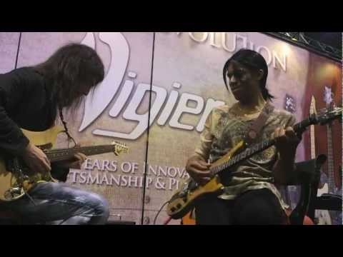Winter NAMM2013 Day 1 Bumblefoot and Stanley Jordan Vigier Booth Jam
