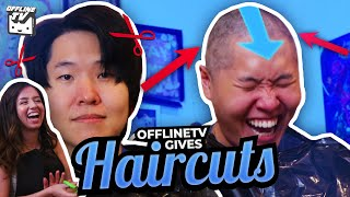 HE WENT BALD?! - OFFLINETV GIVES QUARANTINE HAIRCUTS ft. Michael Reeves Scarra DisguisedToast