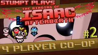 The Binding of Isaac: Afterbirth Co-op - #2 - Maggie Gets Lasik (4 Player Gameplay)