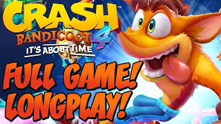 Crash Bandicoot 4 It's About Time - FULL GAME LONGPLAY! ALL LEVELS, HIDDEN GEMS & FLASHBACK LEVELS!