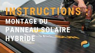 Pose de panneaux solaires hybrides (photovoltaïques et thermiques) DualSun