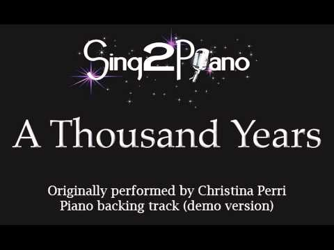 A Thousand Years - Christina Perri - Twilight (Piano backing