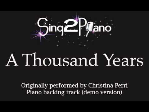 A Thousand Years  Christina Perri  Twilight Piano backing track karaoke