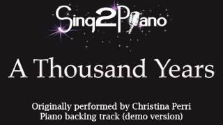 Gambar cover A Thousand Years - Christina Perri - Twilight (Piano backing track) karaoke