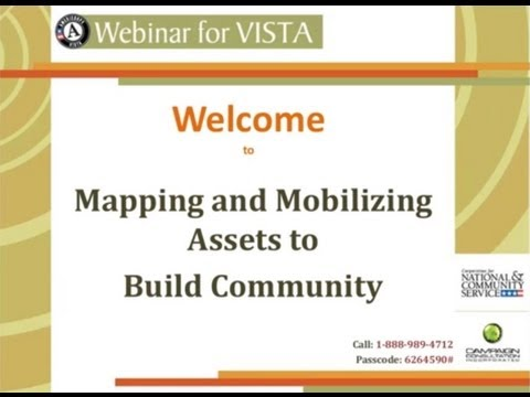 Mapping and Mobilizing Assets in Your Community