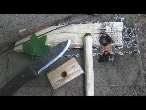 Tulip Poplar Bow Drill Tips and Testing My New Forged Knife