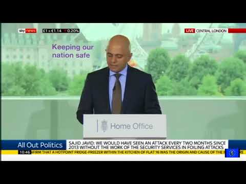 Sajid Javid sets out his 'vision' for UK security services and counter terrorism