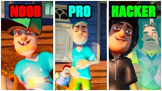 Hello Neighbor NOOB vs PRO vs HACKER