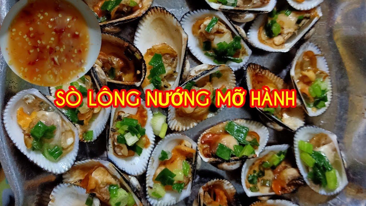 Sò Lông nướng mỡ hành bằng bếp ga//sò lông nướng mỡ hành//ẩm thực Việt//sở thích ăn uống vlogs