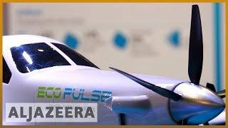 Environmentally friendly jets displayed at Paris Air Show