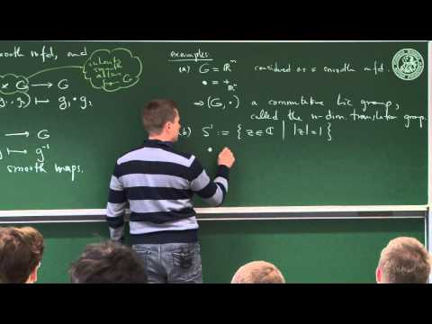 Lie groups and their Lie algebras - Lec 13 - Frederic Schull