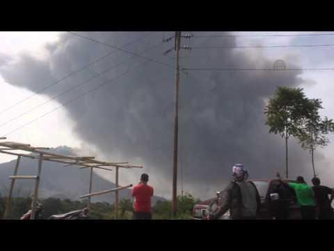 Mount Sinabung eruption in Indonesia 1