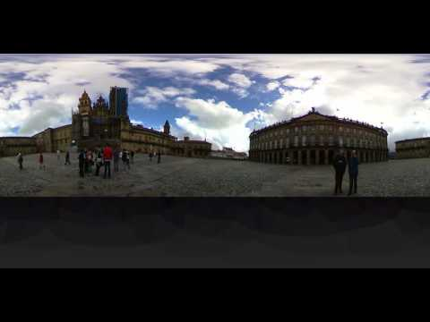 Kathedrale Santiago. 360 Grad Video