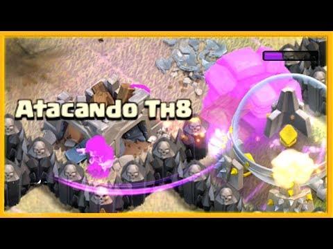 EMOCION con ATACANDO TU ALDEA TH 8 - #89 - CLASH OF CLANS