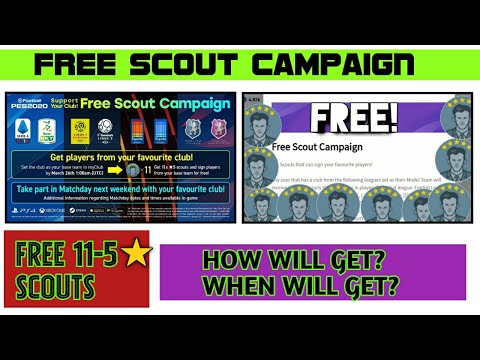 FREE SCOUT CAMPAIGN IN PES 20 MOBILE| FREE 11-5* SCOUTS😲| HOW WILL GET THAT? WHEN WILL GET THAT?