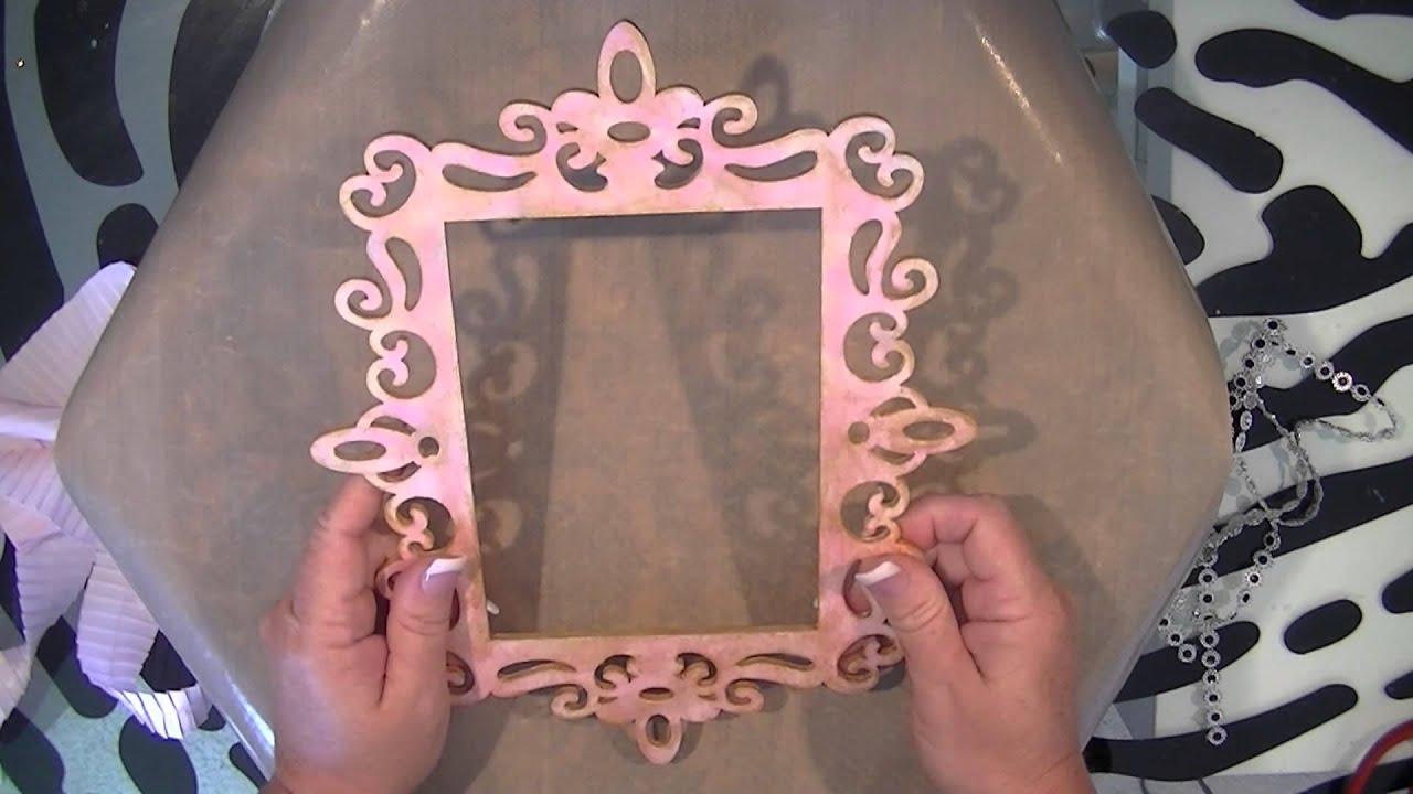 Mixed Media Laser Cut Wood Frame Card to Sara (JustCardsBySara ...