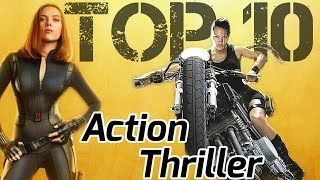Top 10 Best Female Action Thriller♀️ Hollywood Movies in Hindi BADASS Female Characters