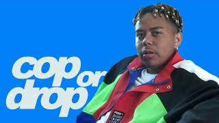 YBN Cordae Reacts to a $3K Naruto Figurine, Pigs in a Blanket, and Prada Sandals | Cop or Drop