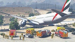 GTA 5 - Realistic Boeing 777 Runway Overrun (HD)