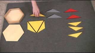 Montessori Sensorial Lesson - Large Hexagon Box