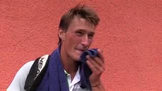 Petr Hájek po výhře v 1. kole na turnaji Futures v Ústí n. O.