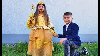 Rinat and Dominika Going to the Princess Ball for kids