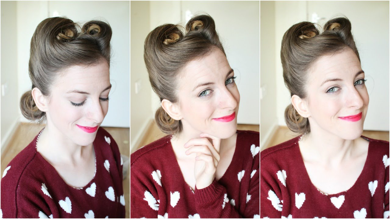 1940s 1950s Pin Up Hair Victory Rolls