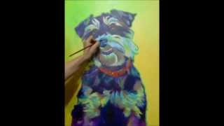 Dawgart - Miniature Schnauzer - Speed Painting By Alicia Vannoy Call