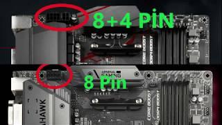 X ve Z serisi anakartlarda 8+4 pin yuvaları